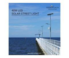 Install 40 watts LED Solar Street Light For Energy Saving Purpose
