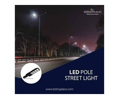 Install LED Pole Street Lights To Illuminate The Parking Lots