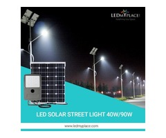 Install 40w LED Solar Street Light Set That Can Be Installed Within Minutes