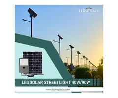 Buy Energy Efficient 40 Watt LED Solar Street Light at LEDMyplace