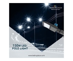 Install 150W LED Pole Lights For Making The Outdoor Ambience More Glorifying
