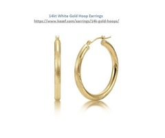 Wear 14kt White Gold Hoop Earrings To Look Gorgeous