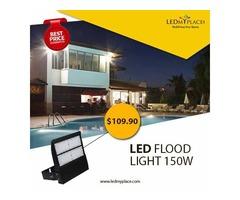 Install LED Flood Light 150W To Brighten Up Huge Parking Lots