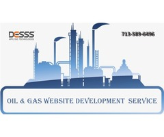 Oil and gas website development