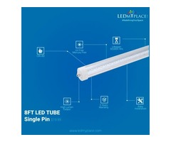 Buy Now 8 feet LED Tubes Single Pin On Sale