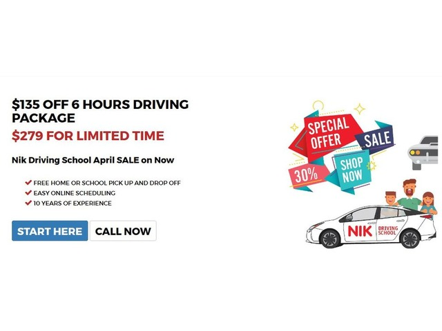 Nik Driving School Offers Best Driving Packages This Month | free-classifieds-usa.com
