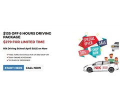 Nik Driving School Offers Best Driving Packages This Month