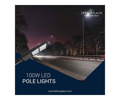 Buy Outdoor LED Pole Light 100W For Warehouse - On Sale