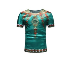 Tidebuy Dashiki African Style Mens Short Sleeve T-Shirt