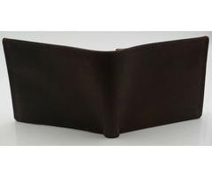 Mens Leather Vintage Brown Flap Credit Card ID Holder Slim Bifold Wallet
