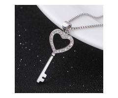 Sterling Silver Key To My Heart Pendant
