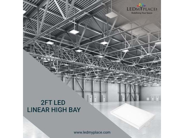 Install 2ft LED Linear High Bay Lights For Industrial Places | free-classifieds-usa.com