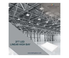 Install 2ft LED Linear High Bay Lights For Industrial Places