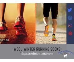 Wool Winter Running socks - Alpacasofmontana