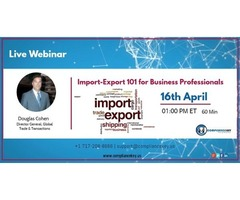 Import / Export 101 - New Updates For Business Professionals