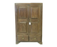 Antique Armoire Furniture Vintage Teak Cabinet Storage Boho Spanish Style