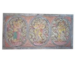 Antique Vintage Kamasutra Decorative Hand Carved Panel