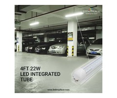 Install T8 4ft V Shaped LED Integrated Tube At The Indoor Commercial Places