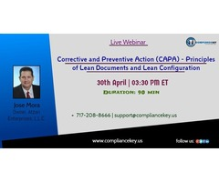 Corrective and Preventive Action (CAPA) - Principles of Lean Documents and Lean Configuration