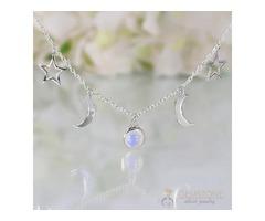 Moonstone Necklace - Dos Lunas - GSJ