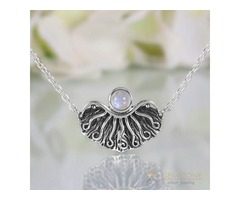 Moonstone Necklace - Ethereal Light - GSJ