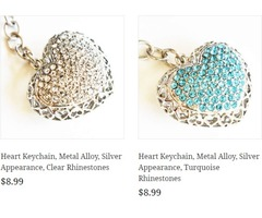 Rhinestone key chains
