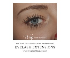 Glam your look with professional eyelash extensions and eyebrow shaping  At Wisp Lash Lounge