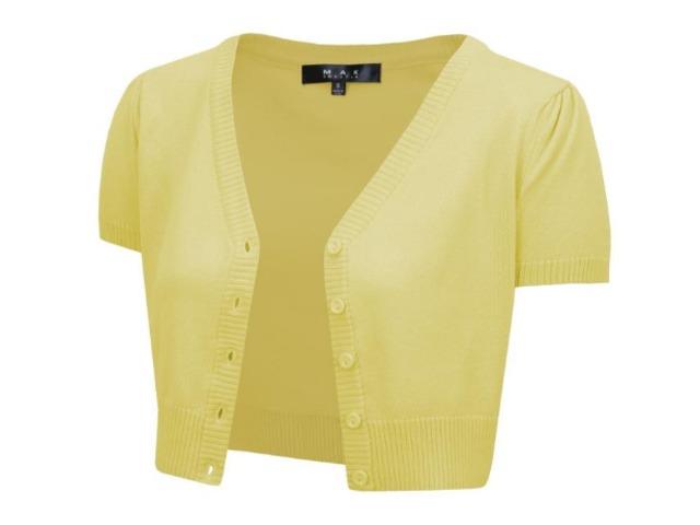 YeMAK Sweater | Short Sleeve Cropped Bolero Cardigan Sweater Vintage Inspired Pinup HB2137 Plus Size | free-classifieds-usa.com