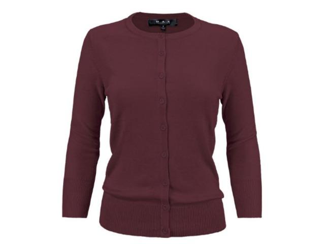YeMAK Sweater   Women's Crewneck Button Down Knit Cardigan Sweater Inspired CO079PL PLUS size(1X-3X)   free-classifieds-usa.com