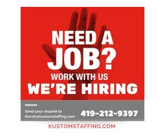 warehouse temp agencies in Defiance Ohio Kustom Staffing