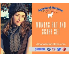 Branded Womens Hat and Scarf Set - Alpacasofmontana