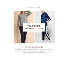 Need The Top Collection Of Tracksuits? Get In Touch With Fitness Clothing Manufacturer Today!
