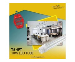 Replace 50w Traditional Light with 18w 4ft LED Tube Light that Have Higher Lifespan