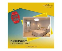 Create The Cheerful Ambience By Installing Flush Mount LED Ceiling Light