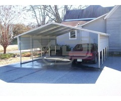 Inexpensive Double Metal Carports For Sale in Mount Airy, NC