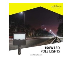 Install 150W LED Pole Lights To Enhance The Outdoor Safety