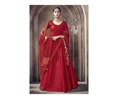 Buy net lehenga, bridal lehenga, velvet lehenga,  for special occassions