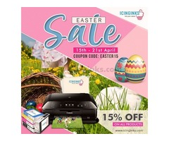 15% OFF on Edible Image Printers, Edible Sheets & Other Photo Cake Supplies This Easter!