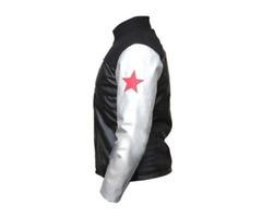 Bucky Barnes Black Leather Jacket