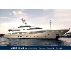 LIGHT HOLIC motor yacht 60m | 12 passengers Available for charter in East & West Med