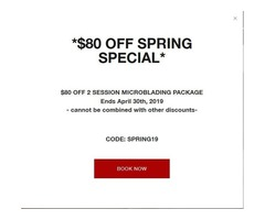 Microblading - $80 Off Spring Special