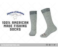 100% American Made Fishing Socks - Alpacas of Montana