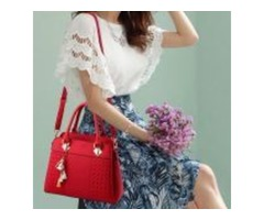 Fashion Women Handbags Tassel PU Leather Totes Bag Top-handle Embroidery Crossbody Bag