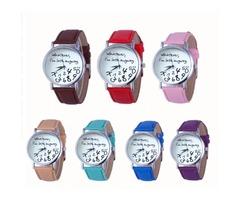Leather Men Women Watches Fresh New Style Woman Wristwatch Lady Watch Hot Sale