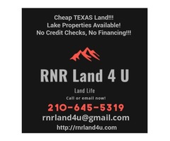 Cheap TEXAS Land!!! Lake Properties Available! No Credit Checks, No Financing!!!