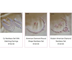 Shop limited edition American Diamond Necklace, maang tikka, designer jewelwry