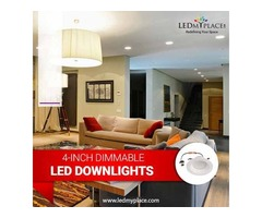 Install Energy Efficient 4-Inch LED Dimmable Downlight - On Sale!