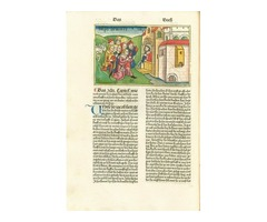 Koberger Bible in German - Twelve Folios