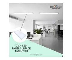 Install 2x4 LED Panel Surface Mount Kit For Your Office