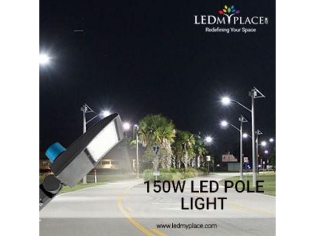 Install LED Pole Lights 150 Watt For Commercial Lighting | free-classifieds-usa.com